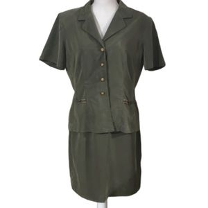 Dawn Joy Olive green skirt/top